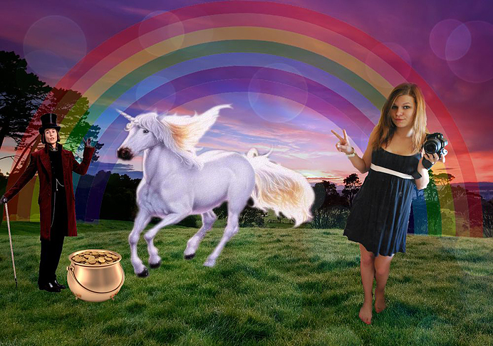 Dröm dream willy wonka unicorn rainbow pot of gold