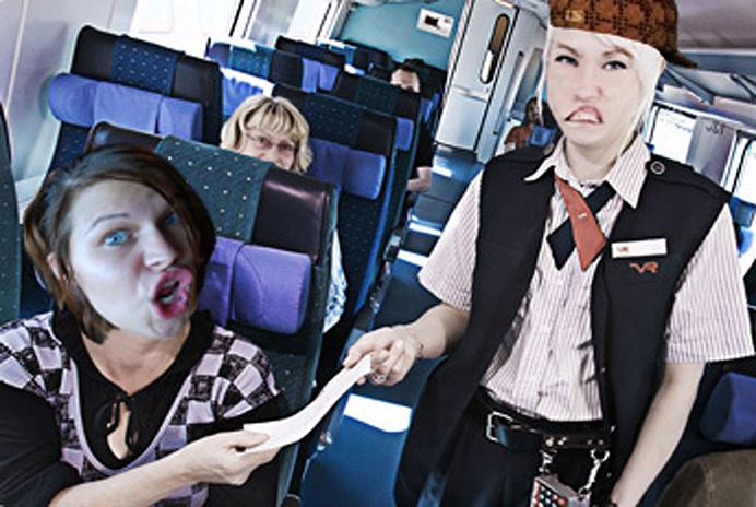 Scumbag conductor avslängd från tåget SJ