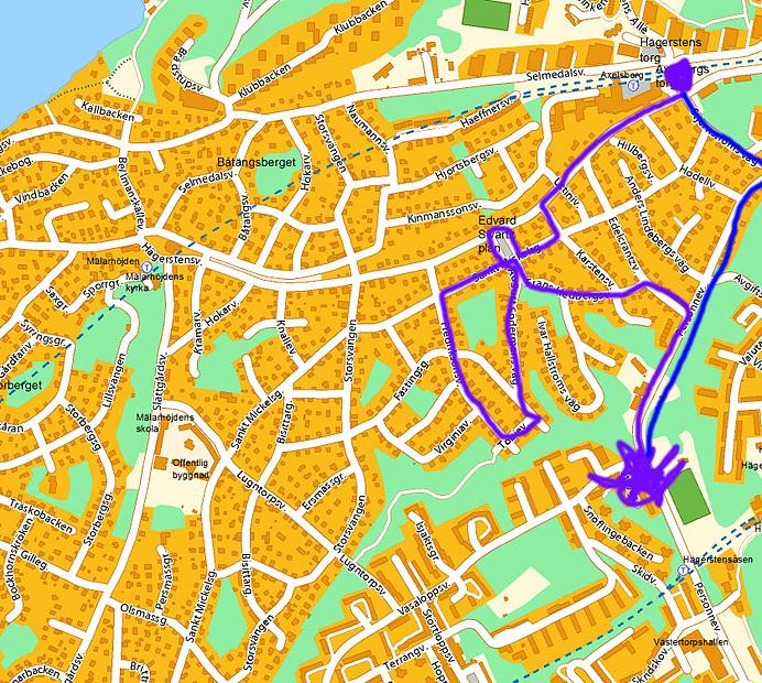 Karta Hägersten