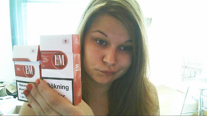 Lm röda, lm röd korta långa cigg cigaretter