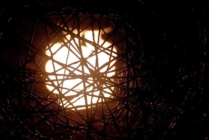 Lampa boll rusta