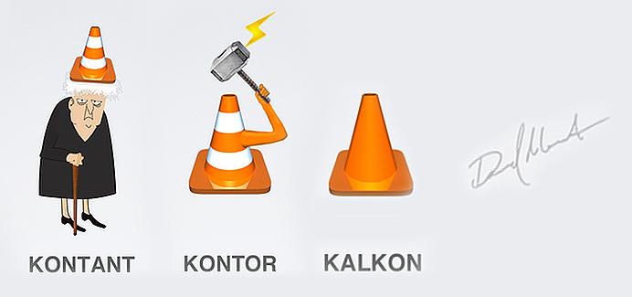 KAL KON kalkon, TANT kontant, TOR kontor, Daniel Marklund KONst
