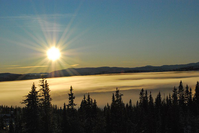 Åre berg sol