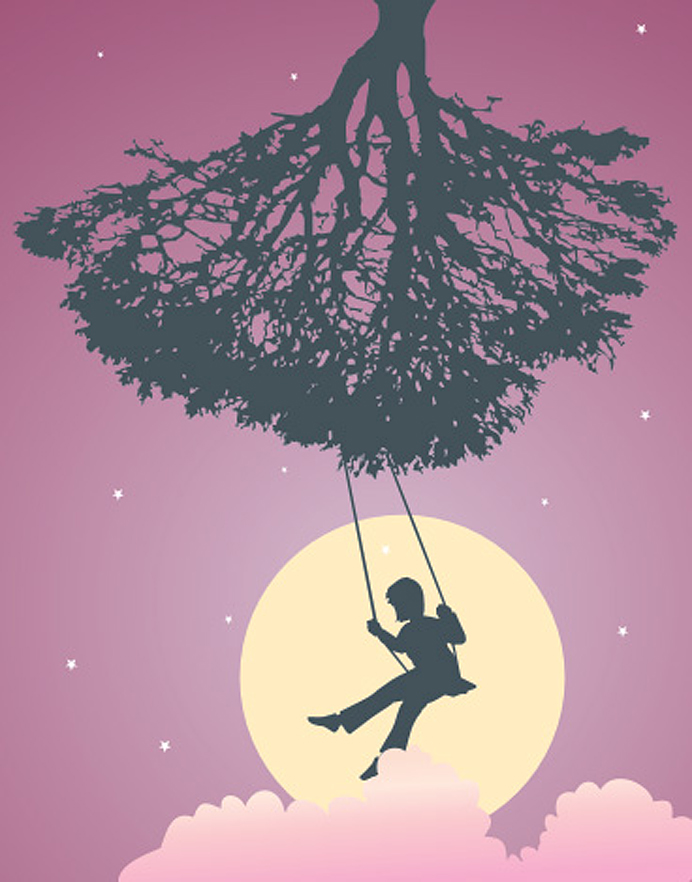 Dream pink tree swing