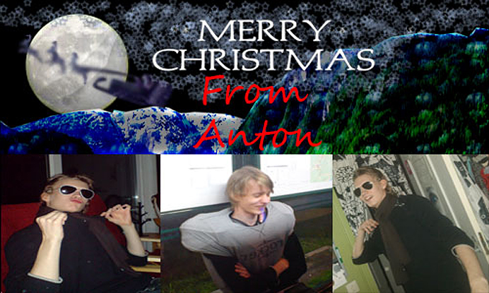 Merry Christmas card from Anton