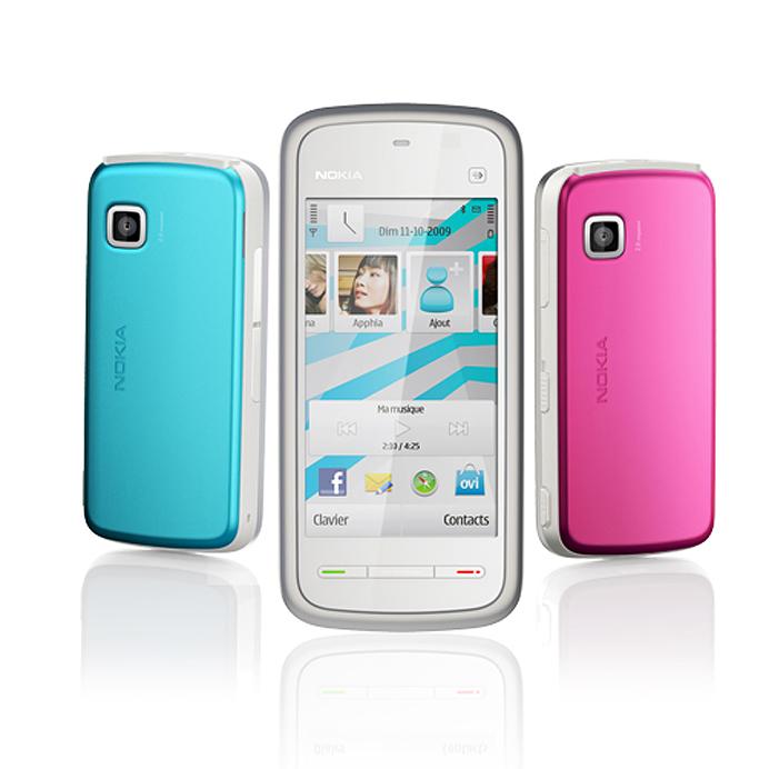 Nokia 5230 pink white blue