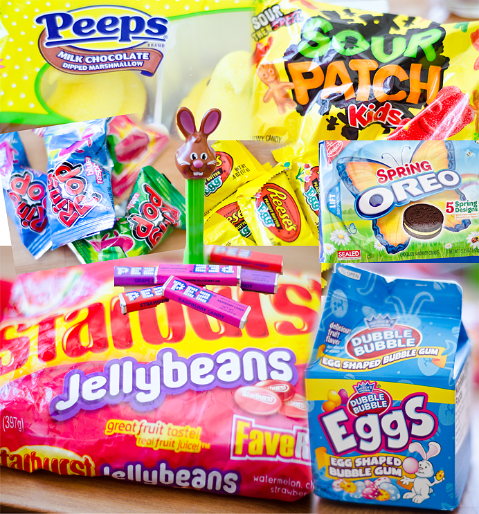 Amerikanskt godis American Candy Swedish Sweden Texas Peeps Sour patch kids Eggs Starburst Jellybeans Oreo Pez Spring Oreos Ring pop Reeses