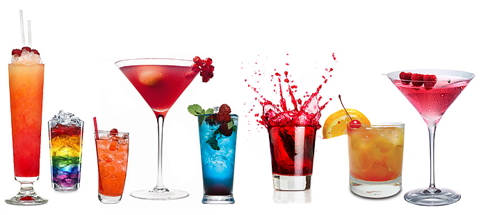 Drinks-Drinkar-Drink-Colorful-Colors-Glada-Rosa-pink-rainbow-Red-blue-orange-tequila-sunrise-martini-glass-glas-drink
