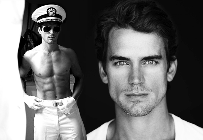 Matthey-Bomer-sexy-Matt-Bomer-black-and-white-greyscale-grayscale-costume-uniform