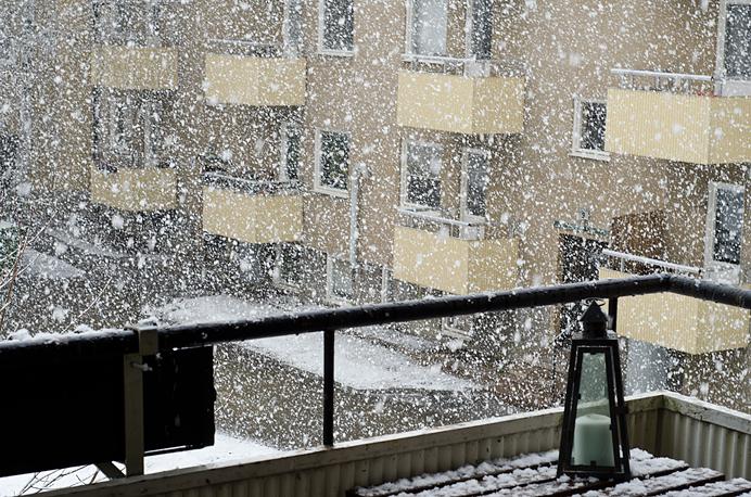 Snö hägersten vår