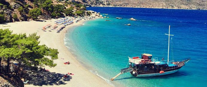 Grekland Greece Boat Beach Strand Beautiful