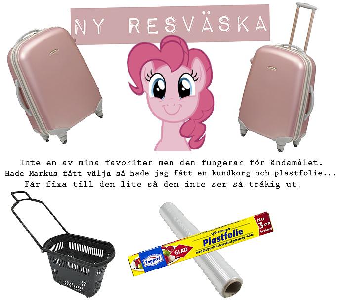 Resväska Rusta Kundkorg Plastfolie