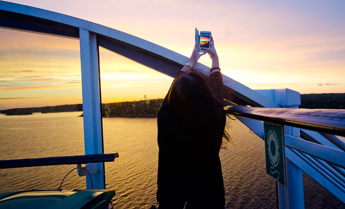 Ameli finlandsbåten solnedgång
