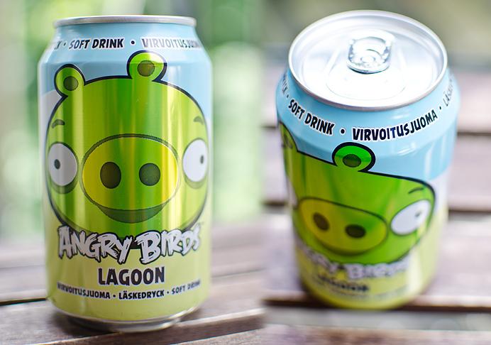 Angy Birds drink soda burk läsk