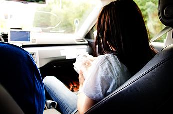 Man får inte äta i taxin