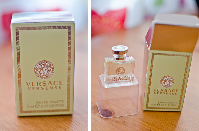 Versace Versense Eau De Toilette Perfume Taxfree bottle tiny small parfym