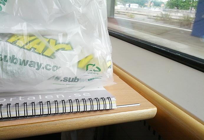 subway på tåget