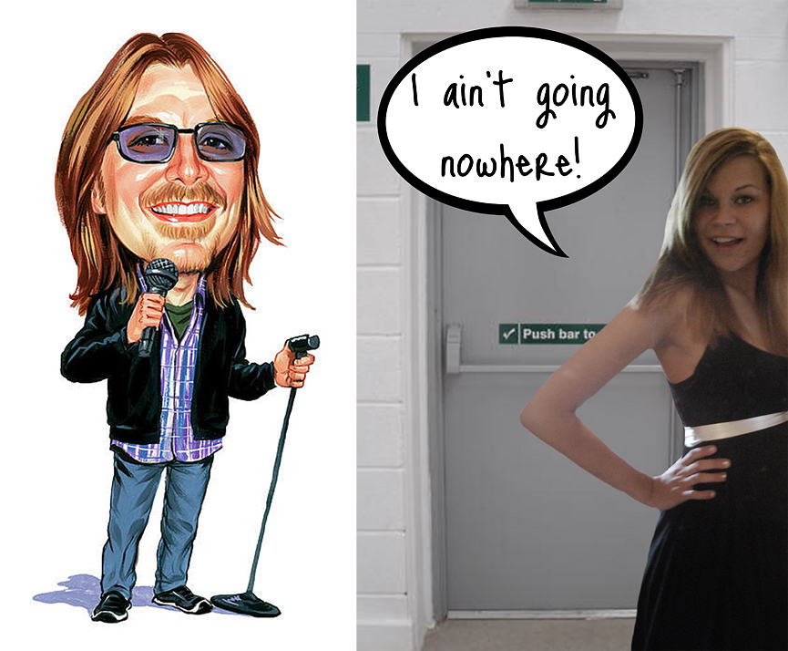 Mitch Hedberg blocking a fire exit